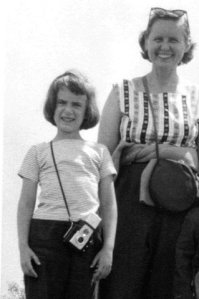 Dr. Margaret Dayhoff with young imaging specialist Dr. Ruth Dayhoff (About 1960)